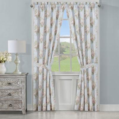 Royal Court Hilary Room Darkening Rod-Pocket Set of 2 Curtain Panels