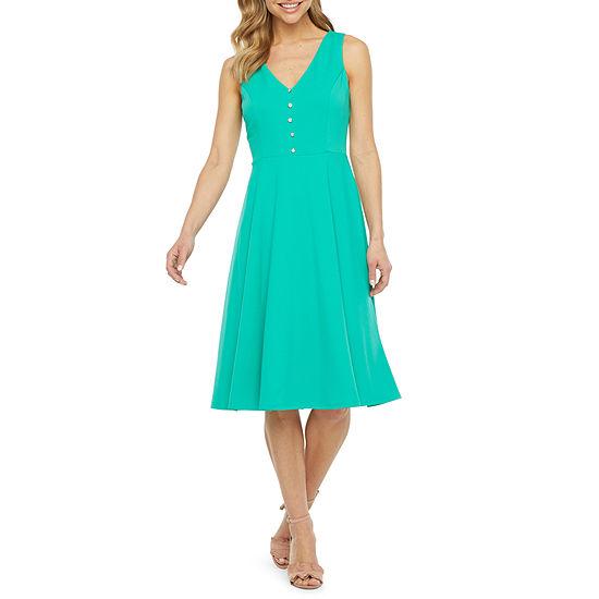 R & K Originals Sleeveless Fit & Flare Dress