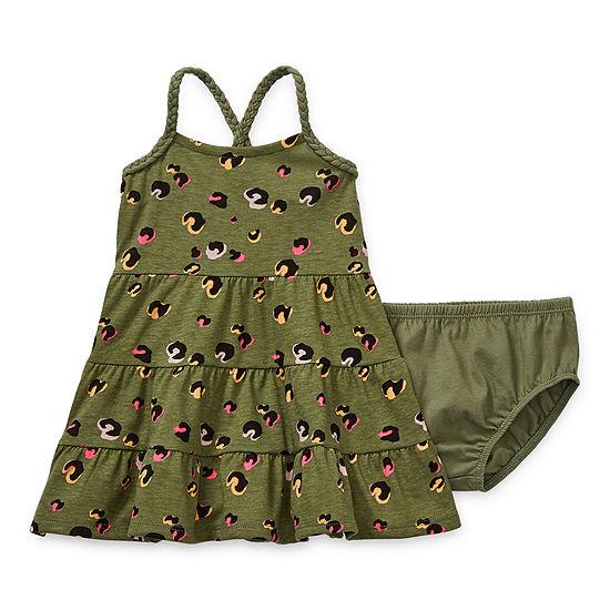 Okie Dokie Baby Girls Sleeveless Babydoll Dress