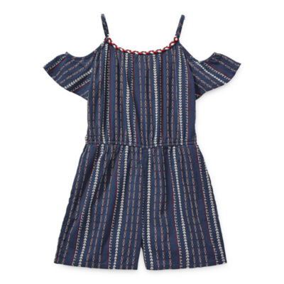 Arizona Little & Big Girls Sleeveless Romper