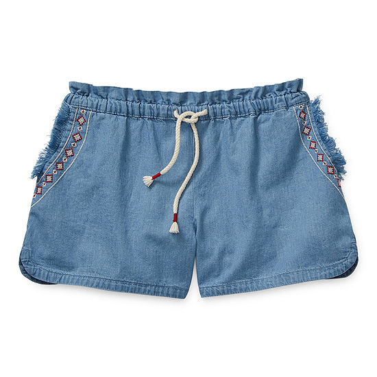 Arizona Little & Big Girls Pull-On Shortie Short