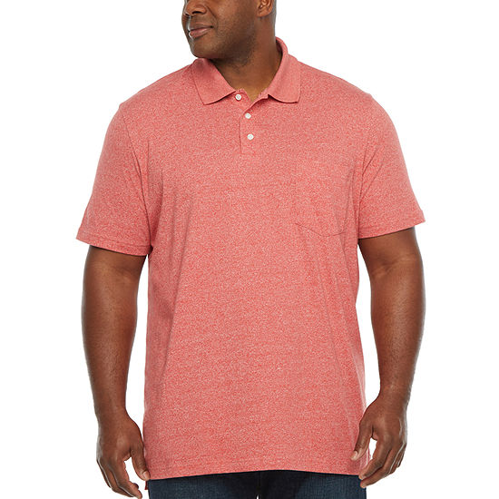 The Foundry Big & Tall Supply Co. Mens Henley Neck Short Sleeve Polo Shirt Big and Tall