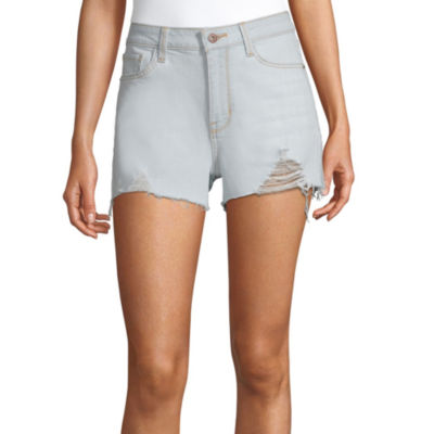 "Arizona Womens High Rise 2 1/2"" Denim Short-Juniors"