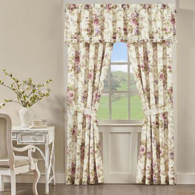 Royal Court Claremont Light-Filtering Rod-Pocket Set of 2 Curtain Panel