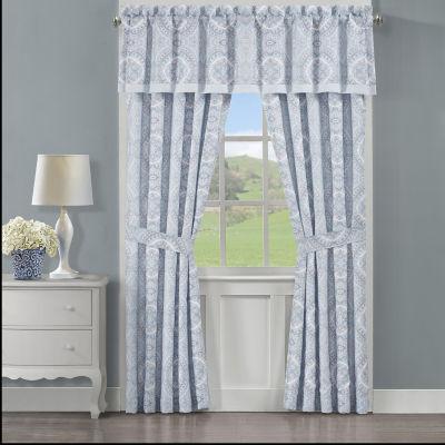 Royal Court Claremont Room Darkening Rod-Pocket Set of 2 Curtain Panels