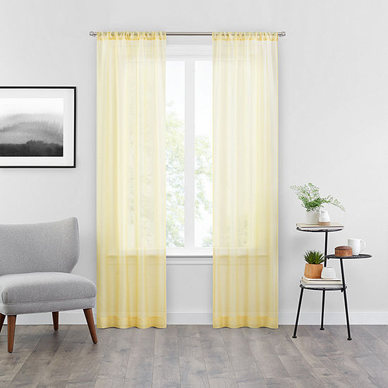 Vue Snow Sheer Rod Pocket Curtain
