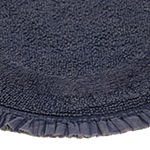 Riviera Home Stonewash Ruffle 2-pc. Bath Rug Set