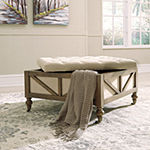Signature Design by Ashley Kyleman Collection Tufted Storage Ottoman
