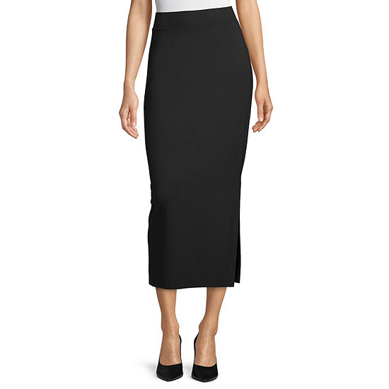 Liz Claiborne Studio Womens Elastic Waist Maxi Skirt