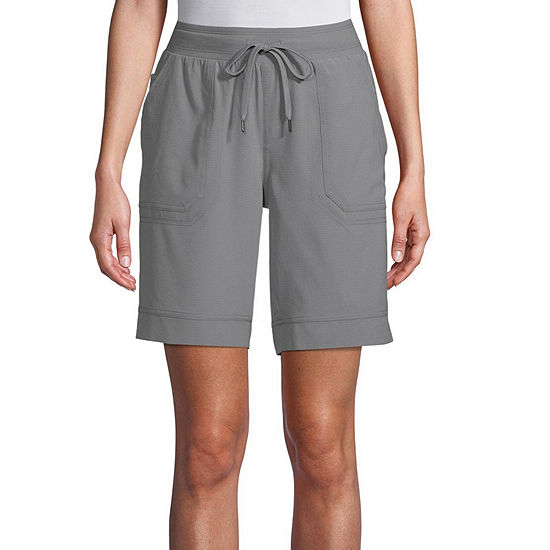 St. John's Bay Womens Mid Rise Adjustable Waist Pull-On Short