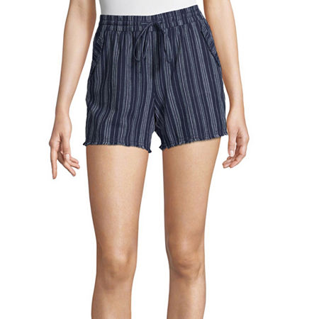 a.n.a Womens Mid Rise Pull-On Short, X-small , Blue