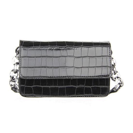 Olivia Miller Crocodile Crossbody Bag