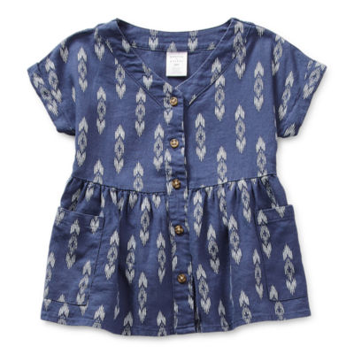 Peyton & Parker Mommy & Me Baby Girls Short Sleeve Diamond A-Line Dress