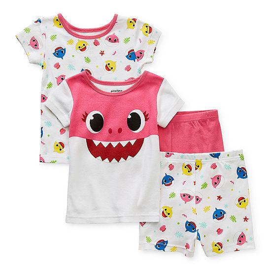 Toddler Girls 4-pc. Baby Shark Shorts Pajama Set