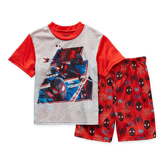Disney Little & Big Boys 2-pc. Spiderman Shorts Pajama Set