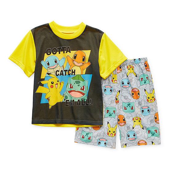 Little & Big Boys 2-pc. Pokemon Shorts Pajama Set
