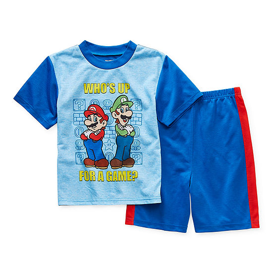 Little & Big Boys 2-pc. Super Mario Shorts Pajama Set