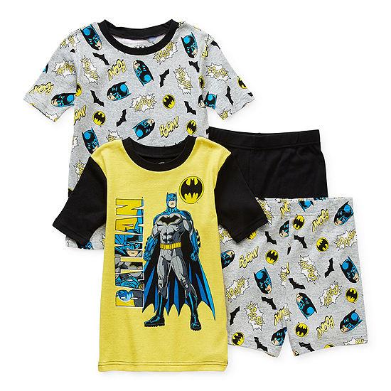Little & Big Boys 4-pc. Batman Shorts Pajama Set