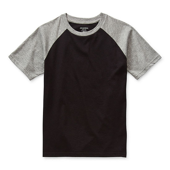 Arizona Little & Big Boys Crew Neck Short Sleeve T-Shirt
