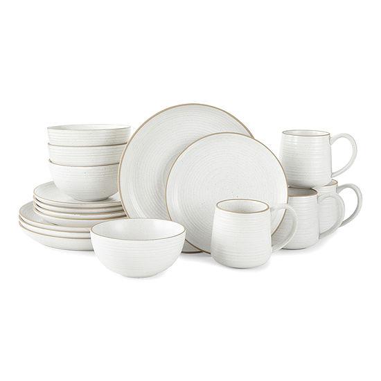 Linden Street 16-pc. Stoneware Dinnerware Set