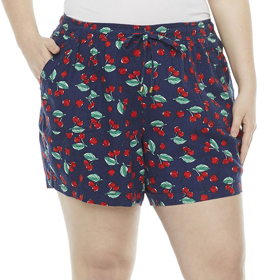 St. John's Bay Womens Soft Short-Plus