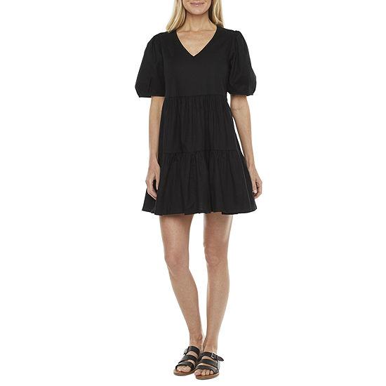 a.n.a Short Sleeve Empire Waist Dress