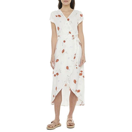 a.n.a Short Sleeve High-Low Wrap Dress