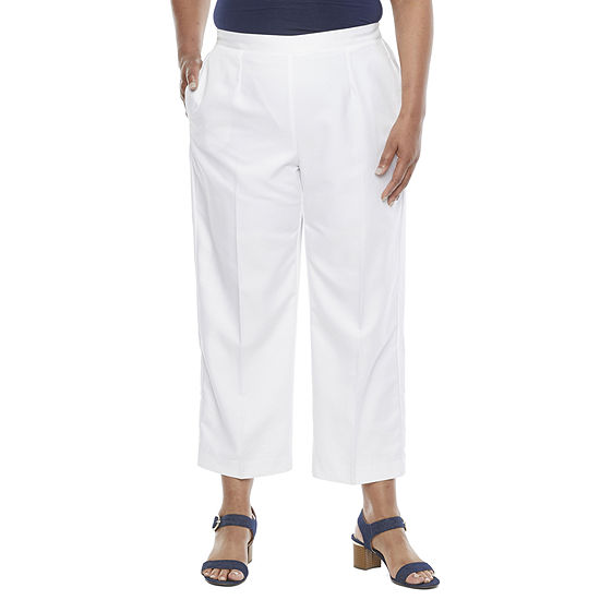 Alfred Dunner Anchor's Away Womens Straight Pull-On Pants