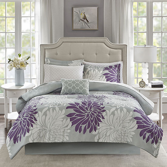 Madison Park Essentials Caldwell 9-Pc. Complete Bedding Set With Sheets Floral Complete Bedding Set with Sheets