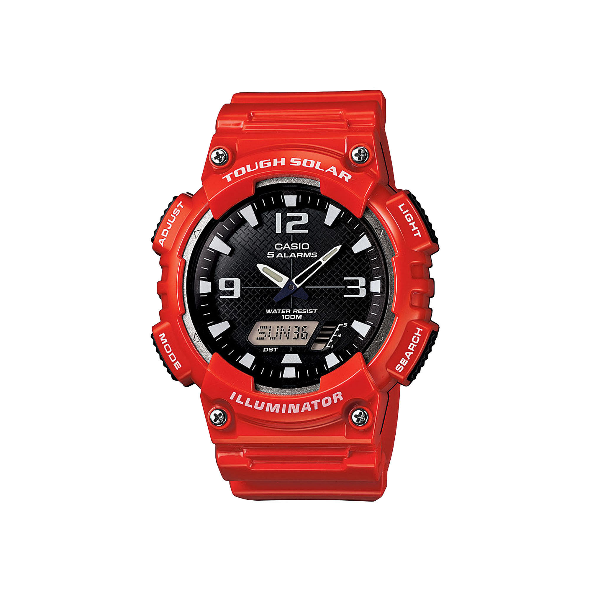 Casio Tough Solar Sport Mens Red Multifunction Watch AQ-S810WC-4A
