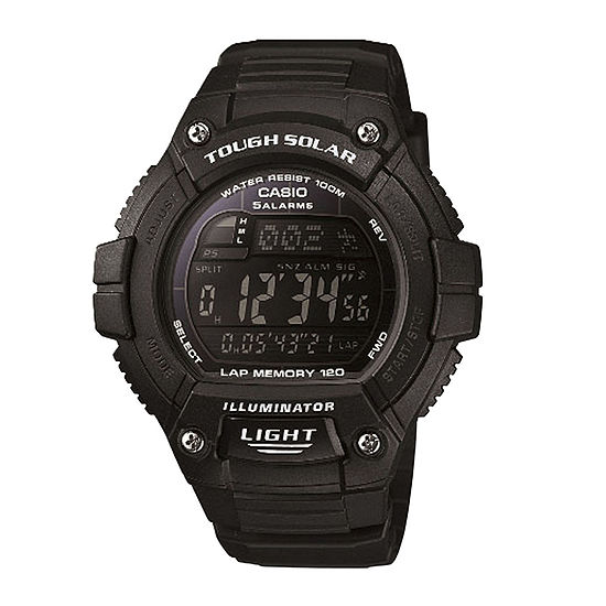 Casio Mens Black Strap Watch-Ws220-1bv