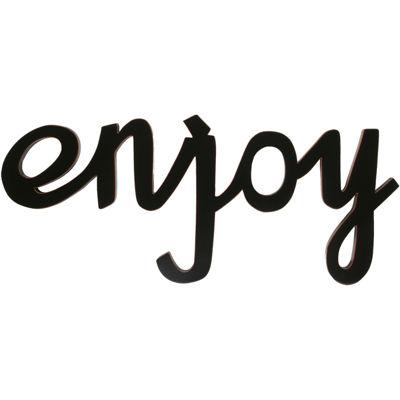 """Enjoy"" Wood Sign Wall Decor"