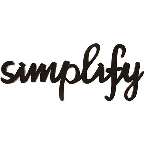 "Art.com ""Simplify"" Wood Sign Wall Decor"