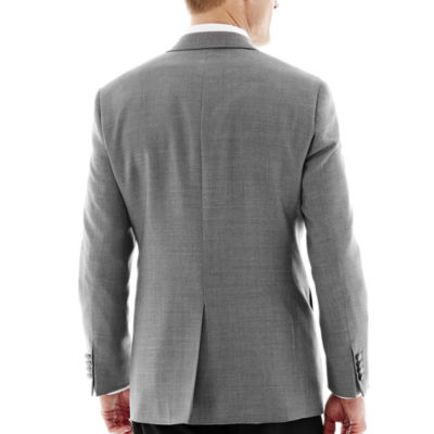 Stafford® Executive Grey Hopsack Blazer - Classic