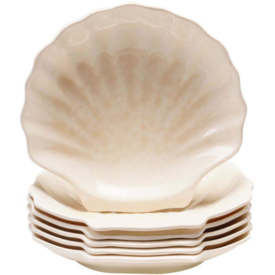 Certified International Coastal Moonlight Melamine Set of 6 Shell Plates