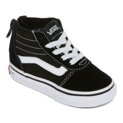 vans shoes black and white boys. vans ward hi boys skate shoes - toddler black and white