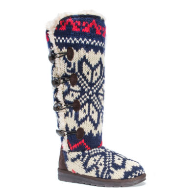 Muk Luks Womens Winter Boots Pull-on
