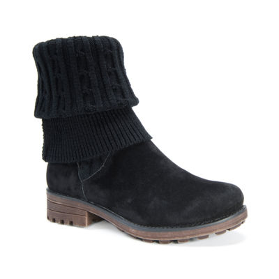 Muk Luks Womens Winter Boots Flat Heel Pull-on