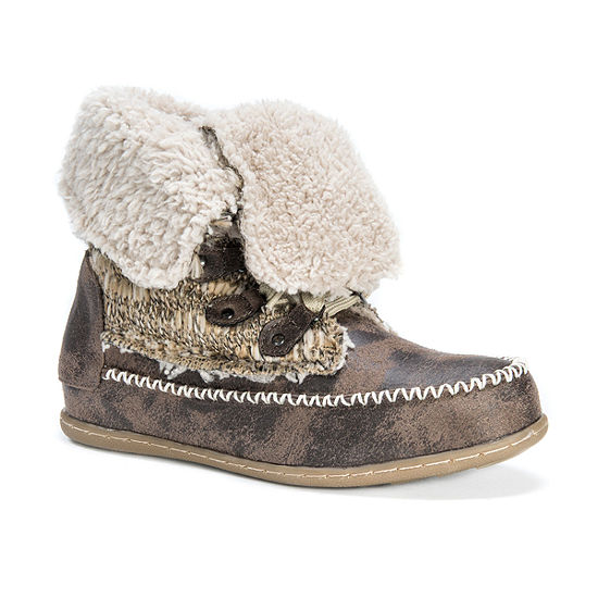 Muk Luks Womens Lilly Winter Boots Flat Heel