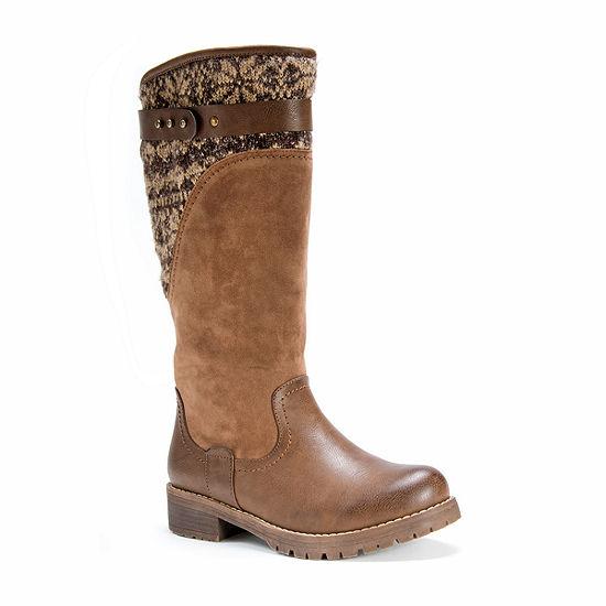 Muk Luks Womens Winter Boots Flat Heel