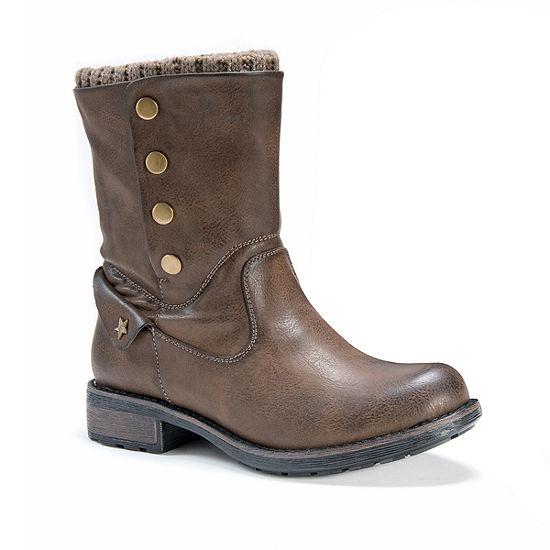 Muk Luks Womens Crumpet Winter Boots Flat Heel