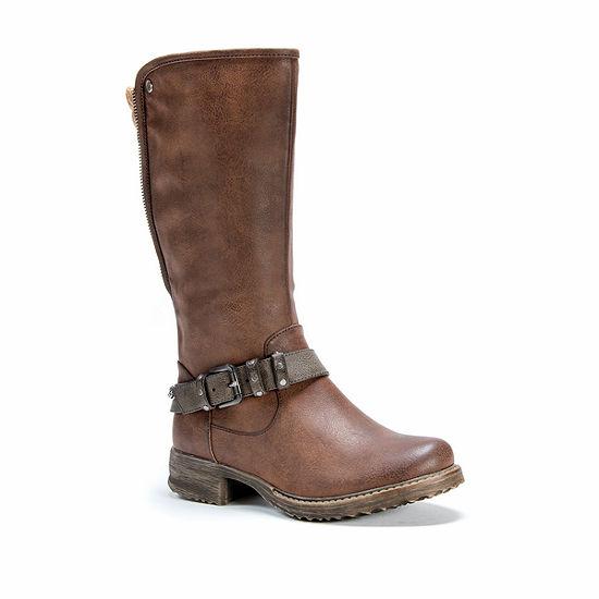 Muk Luks Womens Santina Flat Heel Zip Winter Boots