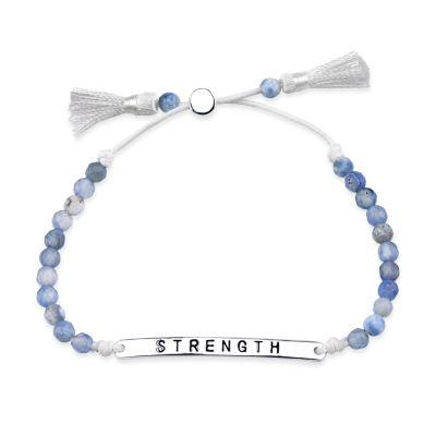 Bridge Jewelry Blue Silver Tone Beaded Bracelet