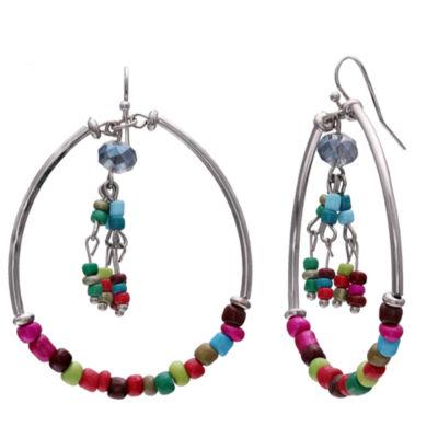 Mixit 2 1/2 Inch Hoop Earrings