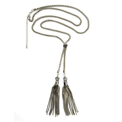 Bold Elements Womens Clear Strand Necklace