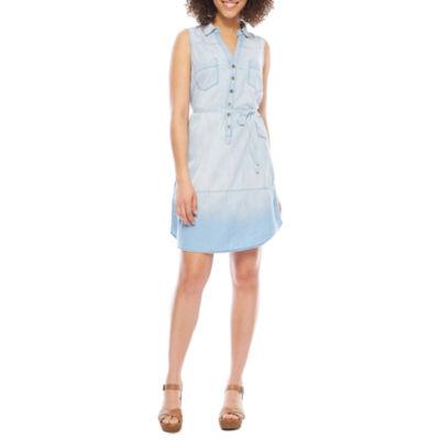 Luxology Sleeveless Shirt Dress