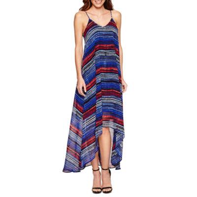 a.n.a Sleeveless Stripe A-Line Dress