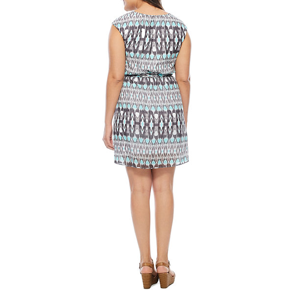 Robbie Bee Short Sleeve Blouson Dress
