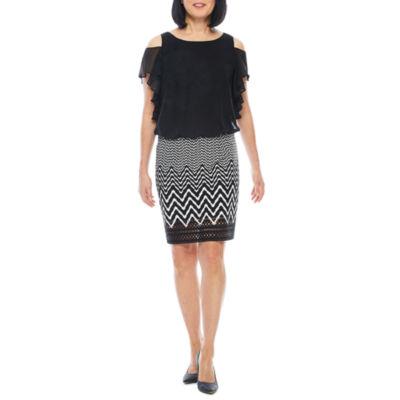 Perceptions Short Sleeve Blouson Dress