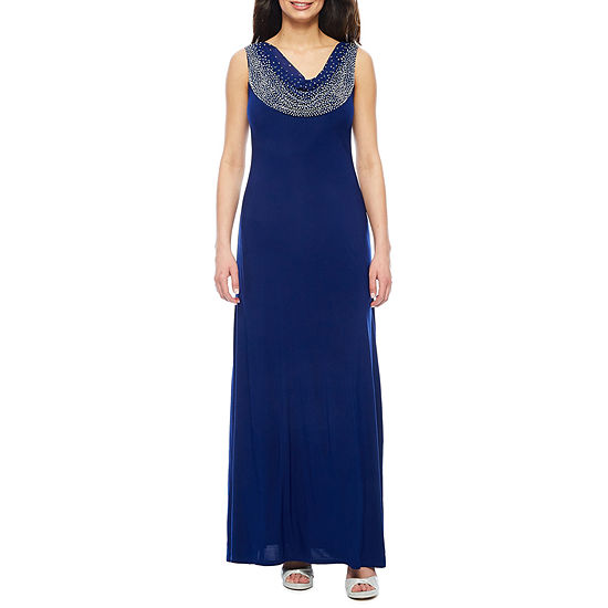 f0997aa1f6 Jackie Jon Sleeveless Beaded Cowlneck Formal Gown JCPenney